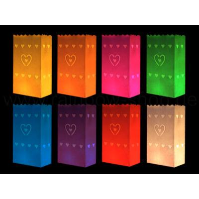 Light bags Different colors motive heart