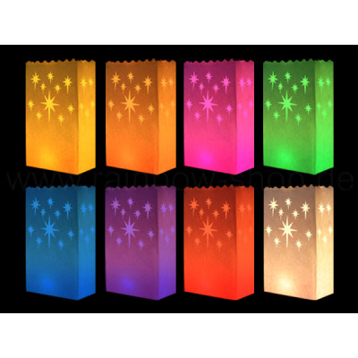 Light bags various colors design: small star