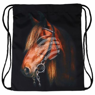 Plecak Gymbag Gymsac czarny koń