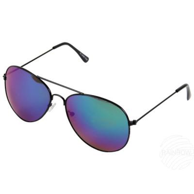 argento occhiali da sole Aviator VIPER XL