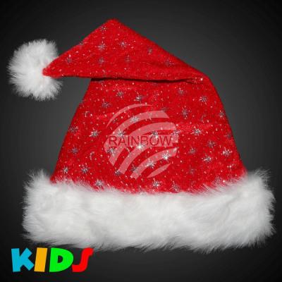 Christmas hats Santa hats red u with fur edge