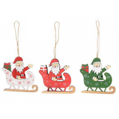 Wholesalers decorating Santa Claus hang wood