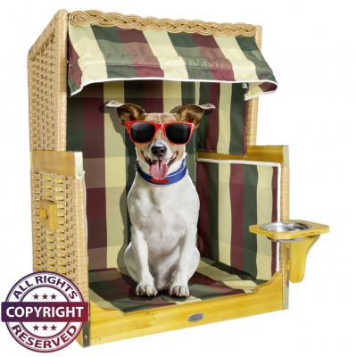 Hundestrandkorb Katzenkorb dreifarbig Größe S