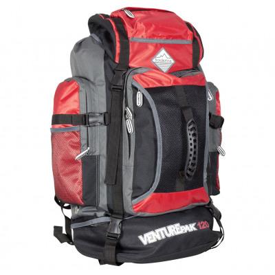 Trekking backpack 120 liters black-red
