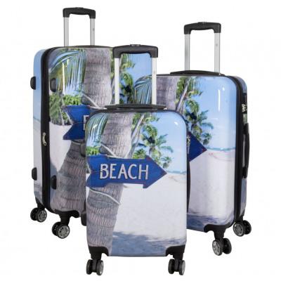 Polycarbonate luggage set 3tlg Beach