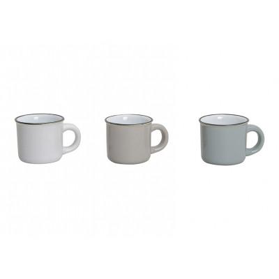 Tazzine da caffè in bianco / marrone / grigio di c