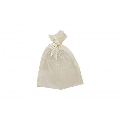sacchetto del regalo del organza, in crema, B11 x