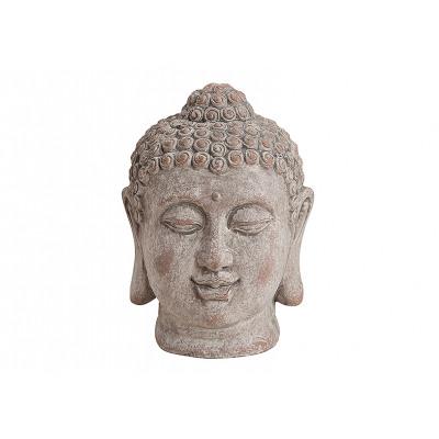 Buddha- głowica szarym ceramicznego, B18 x H11 cm