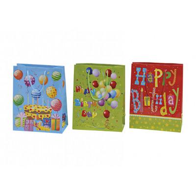 sacchetto regalo di compleanno fatto di carta, 3 v
