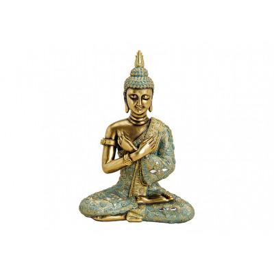 Buddha seduto poli oro (B / H / D) 23x33x14cm