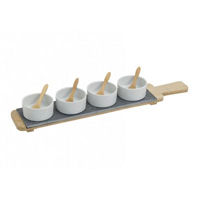 starter set di porcellana / bambù / Slate, 9-tei
