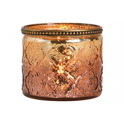 Lanterna con bordo metallico di bicchiere di champ