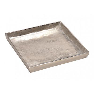 Vassoio in alluminio in metallo (L / H / P) 20x2x2