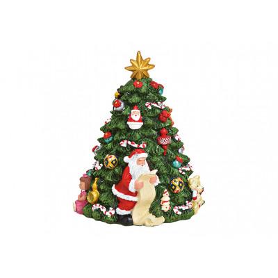 Carillon in movimento Albero di Natale con Babbo N