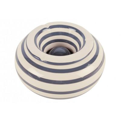 Posacenere tempesta / striscia grigio ceramica bia