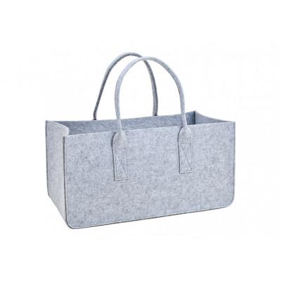 Firewood bag made of gray felt (W / H / D) 50x26x2