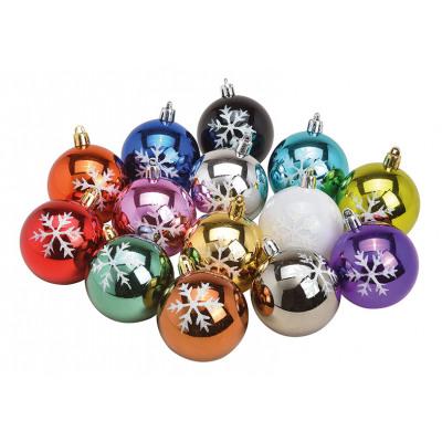 Set di palline di Natale con decorazioni a fiocco