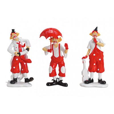 Poly clown rosso, bianco 3- volte assortito , (L /