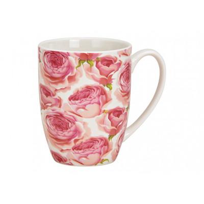 Tazza decoro rosa in porcellana rosa / rosa (L / A