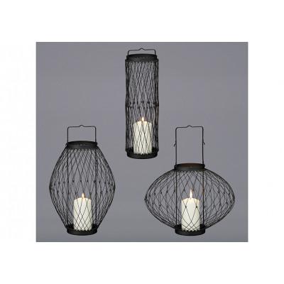Lanterna flessibile 3 in 1 in metallo, nera Ø 29 c