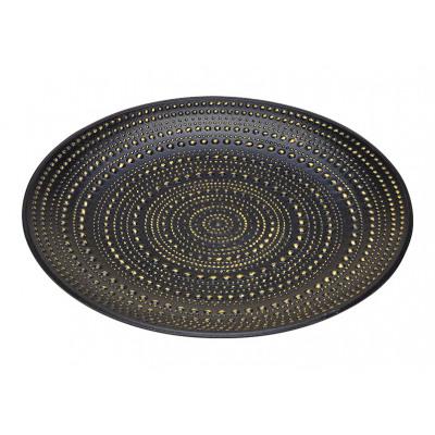 piatti in legno nero Ø39cm