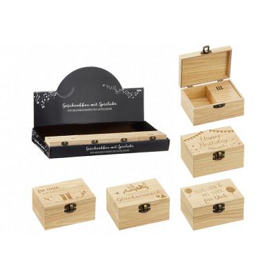 Carillon, carillon, compleanno in legno natura 4-f