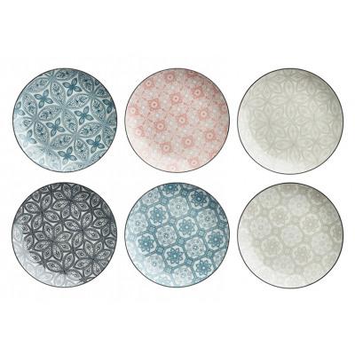 piatti Ornamento in gres multicolore 6- volte asso