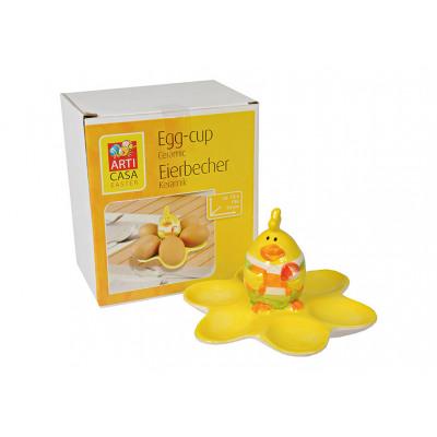 Portauovo Stand Easter Chick Ceramic Yellow,