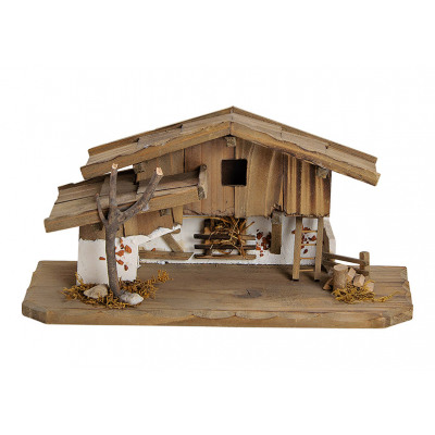Casa per presepe in legno di pino, MDF naturale (B