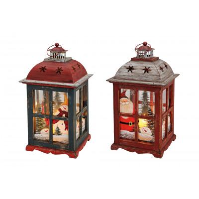 Lanterna di Natale, dipinti a mano duplice assorti