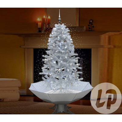 Christmas tree with snow, bright and musical blan