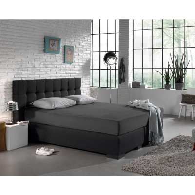 Fitted Sheet Jersey 135 gr. Anthracite 160/180 x 2