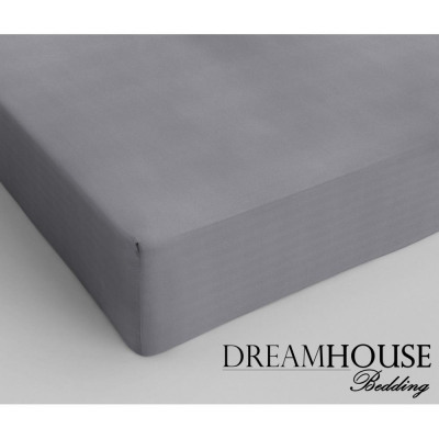 Dreamhouse Bedding coton Fitted Sheet Grey 200 x 2