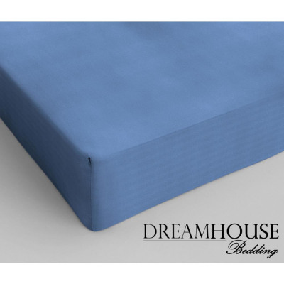 Dreamhouse Bedding coton Fitted Sheet Blue 160 x 2