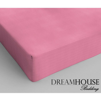 Dreamhouse Bedding coton Fitted Sheet Pink 200 x 2