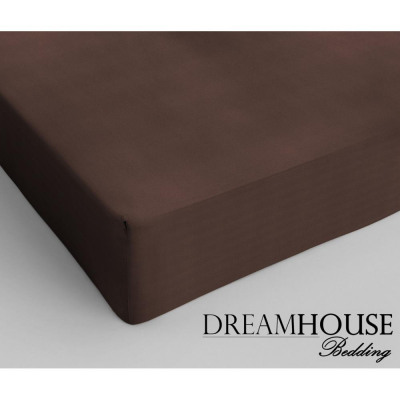 Dreamhouse Bedding coton Fitted Sheet Brown 90 x 2