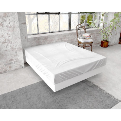 Fitted Sheet flannel 150g. White 60 x 120 White