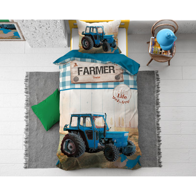 Tractor Life Blue 135 x 200 Blue