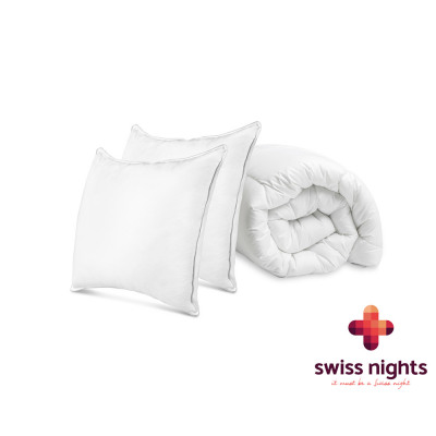 Pack 1 Duvert + 2 Pillows 240 x 200 White