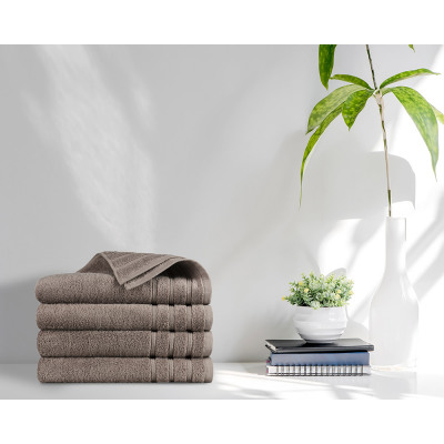 towel 4pack 500gsm Taupe 70 x 140 Taupe