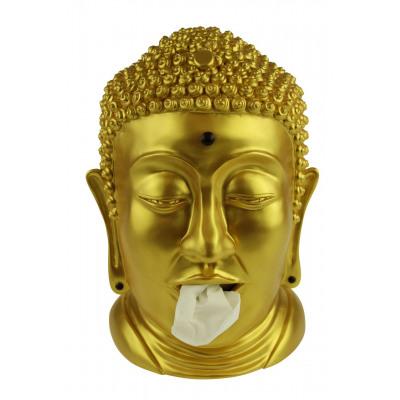 Rotary Hero Buddha Tissue Box Holder - Gold
