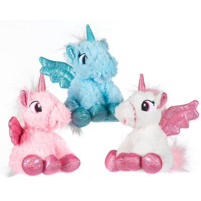 Plush Unicorn Sitting 3 Assortment 16cm