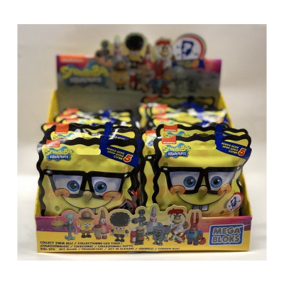 Blinkpack Mega Bloks Spongebob Series 5 in Display