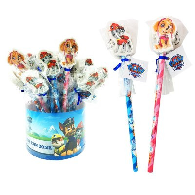 Paw Patrol pencil with eraser assorted in Giftbox