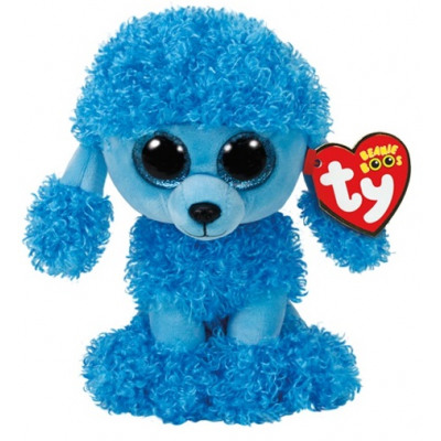 TY Plush Poodle Blue with Glitter eyes Mandy 15cm