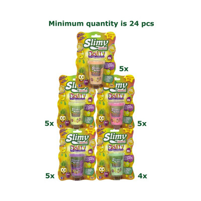 Slimy Fruity Smelly Slime 80gram in pot 6x7,5cm as