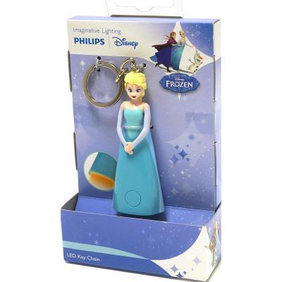 Keychain frozen Elsa Philips flashlight