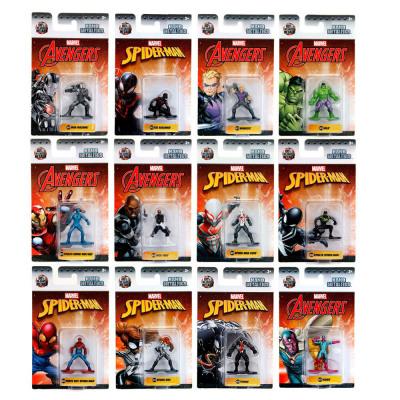 Marvel Nano Metalfigs 12 assorted 4.5 cm