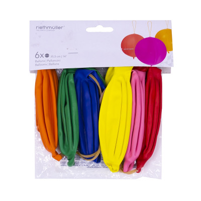 Punch balloons 35.5cm 6 pieces in a polybag with h