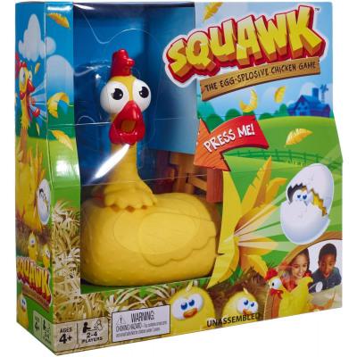 Mattel Squawk Chicken Game The Egg-Splosive 26x26c